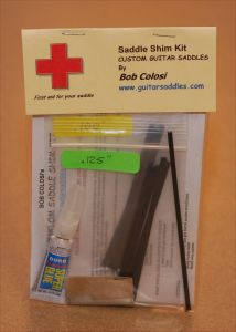 Guitar Saddle Shim Repair Kit
